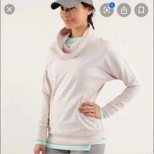 Lululemon Cowl Neck Sweatshirt Oatmeal Size 10